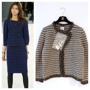 Chanel 2007 tweed like chunky cardigan blazer